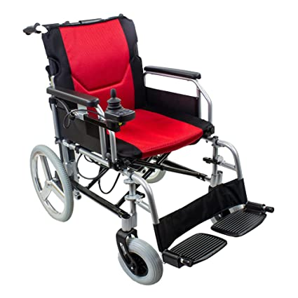 5a93ba96714 KosmoCare Lightweight Foldable Power Aluminium Wheelchair with Battery (23  Kgs) Mobility Aids   Equipment