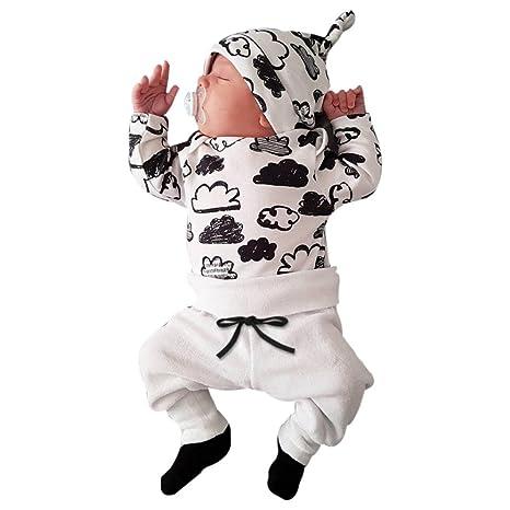 57632c6f830e7 雲 男女兼用 3点セット(上着+パンツ+帽子) かわいい ベビー服