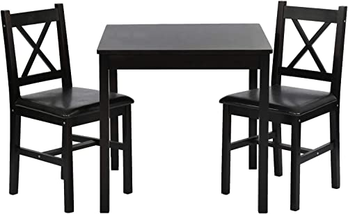 FDW Dining Kitchen Table Dining Set 3 Piece Wood