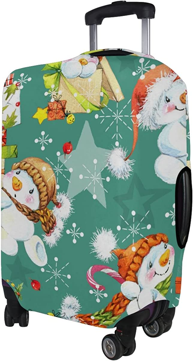 LAVOVO Snowman Watercolor Luggage Cover Suitcase Protector Carry On Covers