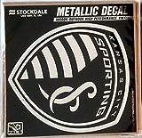 Sporting Kansas City KC 6'' Silver Metallic Mirrored Style Vinyl Auto Decal MLS Soccer Football Club