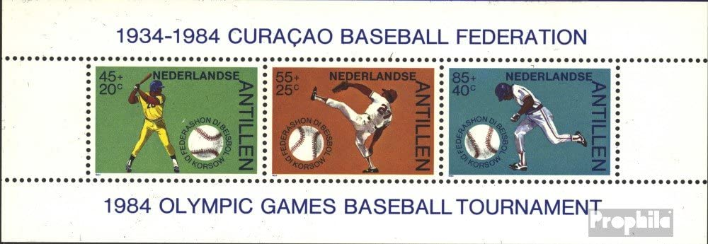 compl/ète.Edition. Timbres pour les collectionneurs N/éerlandais Antilles block27 1984 Sports Autres sports
