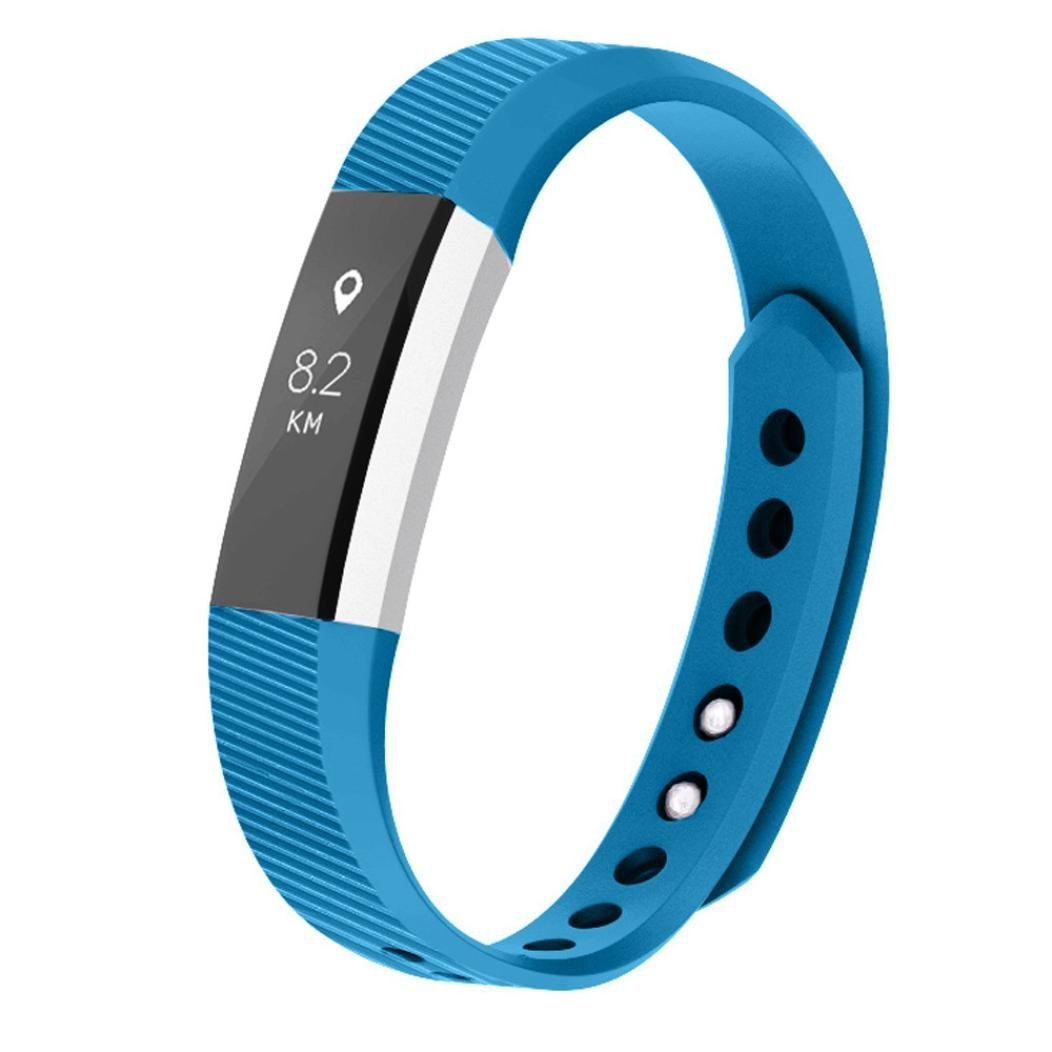 SUKEQ for Fitbit Ace for Kids Bands, Soft TPU Sports Replacement Strap Ultrathin Wristbands Accessories for Fitbit Ace, Fits for 5.5-6.7inches (Blue)