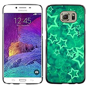 Planetar® ( Stars Vortex Mint Mystical Abstract ) Samsung Galaxy S6 / SM-G920 / SM-G920A / SM-G920T / SM-G920F / SM-G920I Fundas Cover Cubre Hard Case Cover