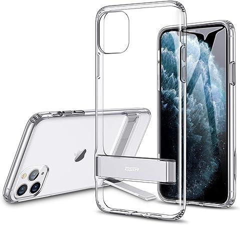 ESR Cover per iPhone 11 PRO Max, Custodia con Cavalletto in Metallo [Supporto Verticale e Orizzontale] [Protezione Rinforzata] Retro Morbido in TPU ...
