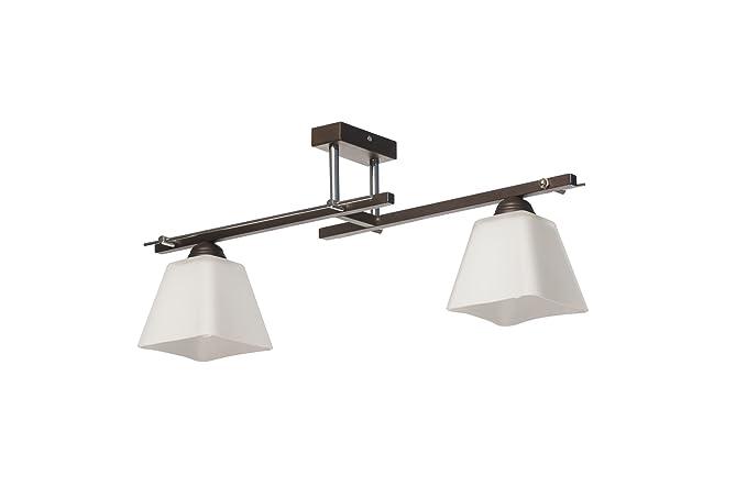 Bauhaus - Lámpara de techo (Diseño hogar, en marrón, color ...
