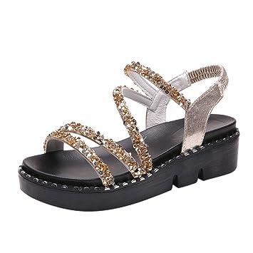 8e1183b68883 Women s Sandals Platform Wedge Sandals Slide On Comfort Thick Cork Board  Criss Cross Sandal Buckle Summer