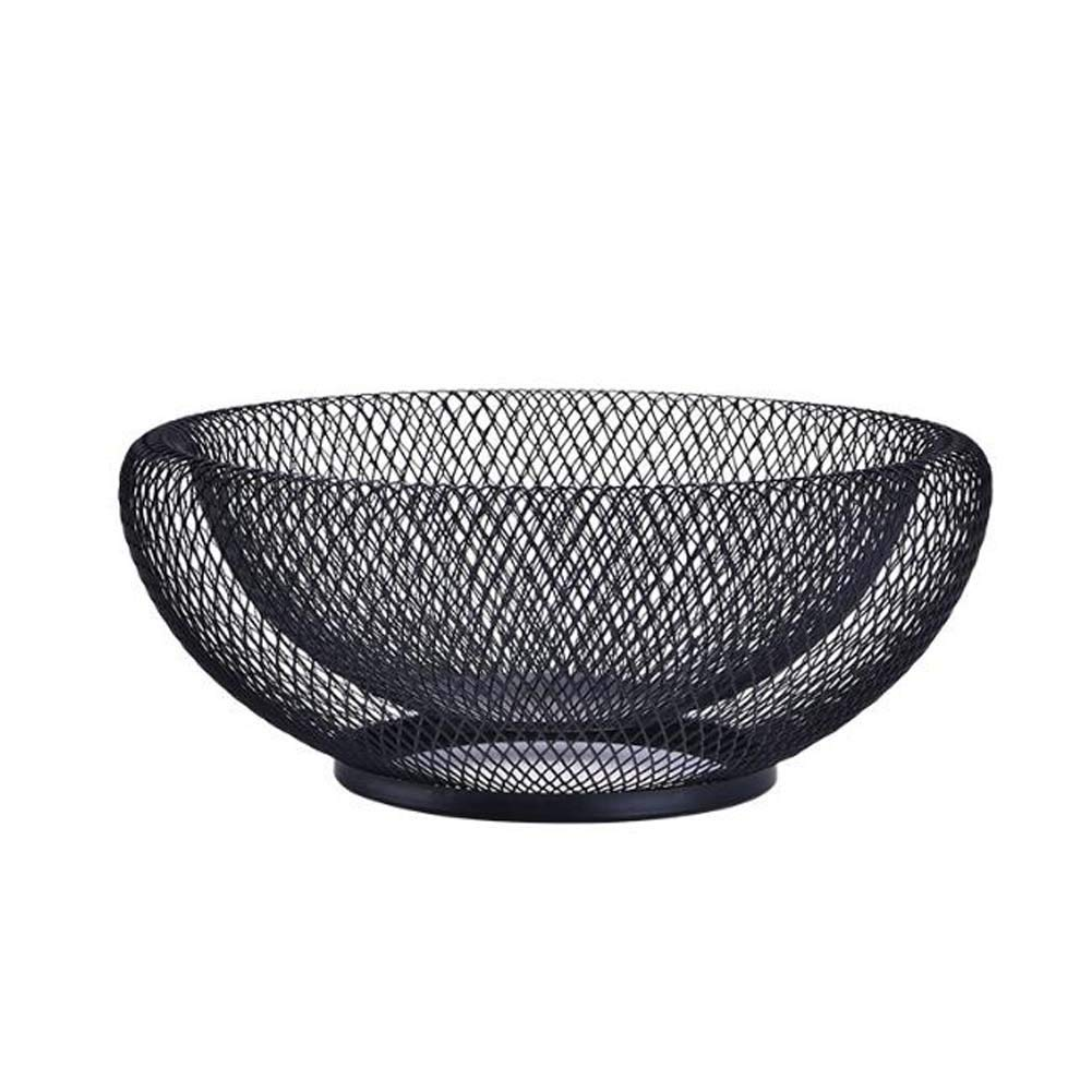 ANQI 2層フルーツバスケット アイアンアート フルーツボウル スナック収納 クリエイティブ ラウンド メタル フルーツホルダー 家庭 キッチン オフィス 2ピース   B07GB2L73Q