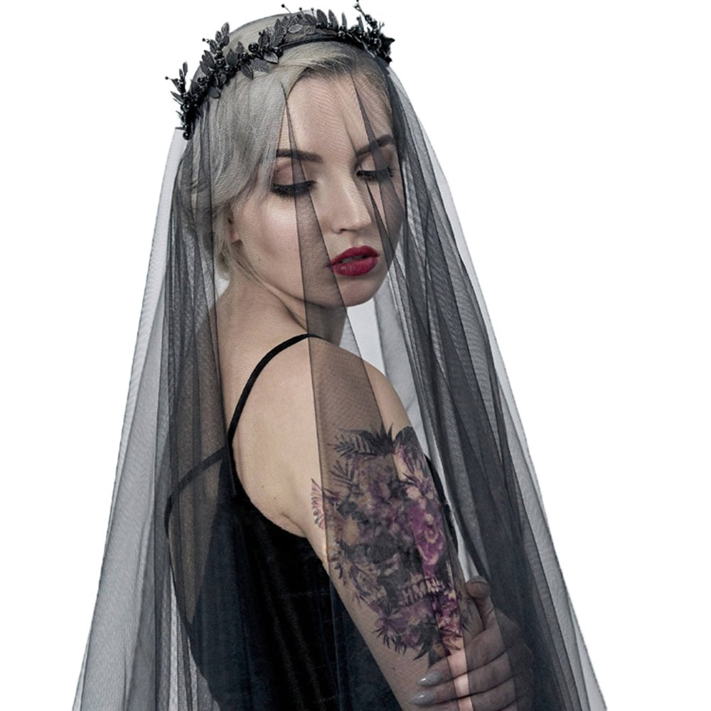 blsck girl Communion Wedding White and ivory glass Accessory veil