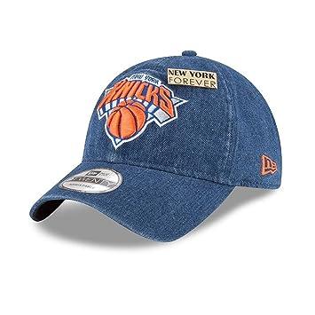buy online c50c9 33d58 New ERA New York Knicks 9twenty Adjustable NBA Basketball Draft Cap  Denim