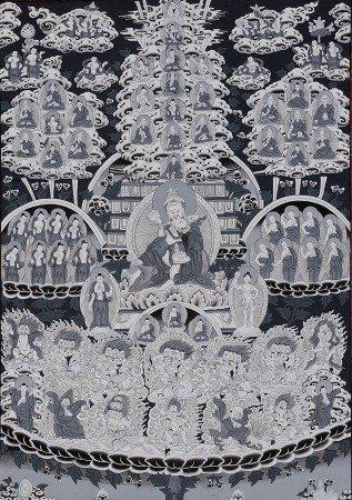 The Nyingma Refuge Tree - Tibetan Thangka Painting