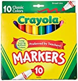 #6: Crayola Broad Line Markers, Classic Colors 10 Each