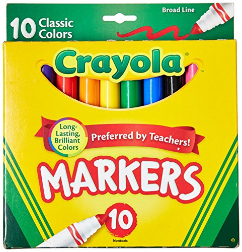 Crayola Broad Line Markers  Classic Colors 10 Each