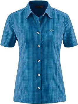 RennerXXL MAIER Sports - Camisa de Senderismo para Mujer, Transpirable, para Exterior, Trekking, en Todos los tamaños, también Tallas Grandes y Grandes, Unisex Adulto, Color Azul, tamaño 48: Amazon.es: Deportes y aire