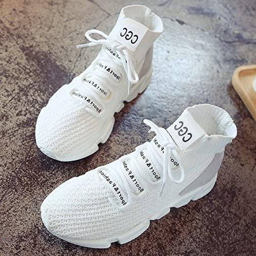 GUNAINDMX Zapatillas / Calcetines / Nuevo Primavera / Todo a Parche / Deporte / Estiramiento / Calzado / Zapatillas de Running, Thirty-six,white, Female models: Amazon.es: Deportes y aire libre