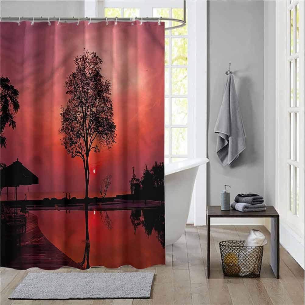 Amazon Com Scottdecor Sunrise College Dorm Bathroom Twilight Sky With Tree Shower Curtain Christmas W60 X L72 Inch Home Kitchen