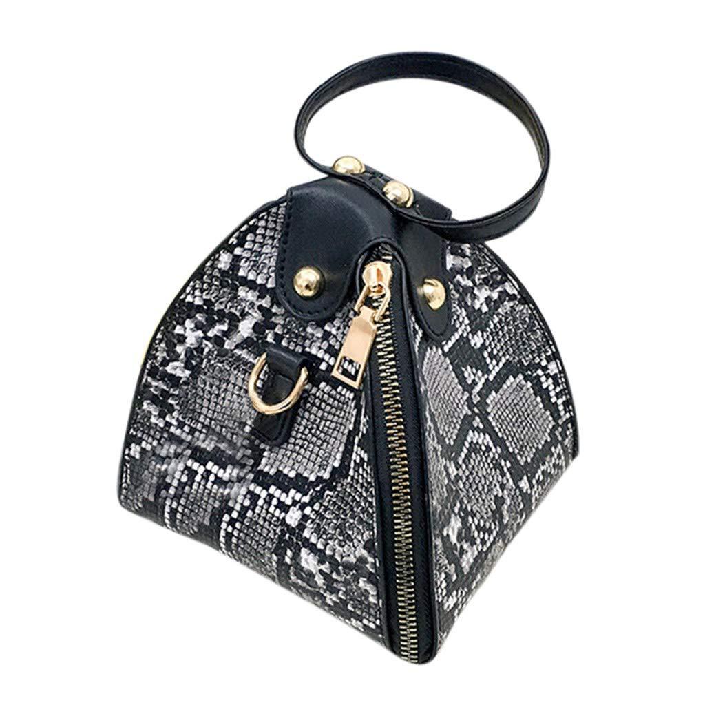 Mode kvinnors läder dragkedja kuvertväska stor kapacitet messengerväska Svart