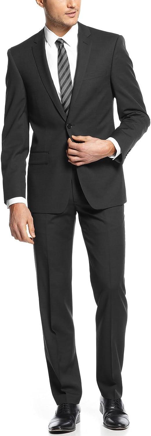 Vince Camuto Herren Mens Slim Fit Stretch Suit Anzug-Set