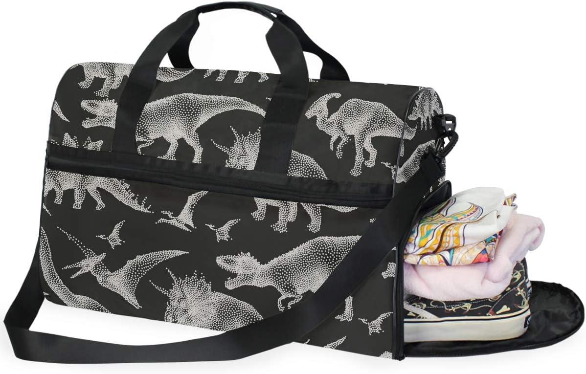 AHOMY Travel Duffel Bag Dinosaurs Sports Gym Luggage Bags