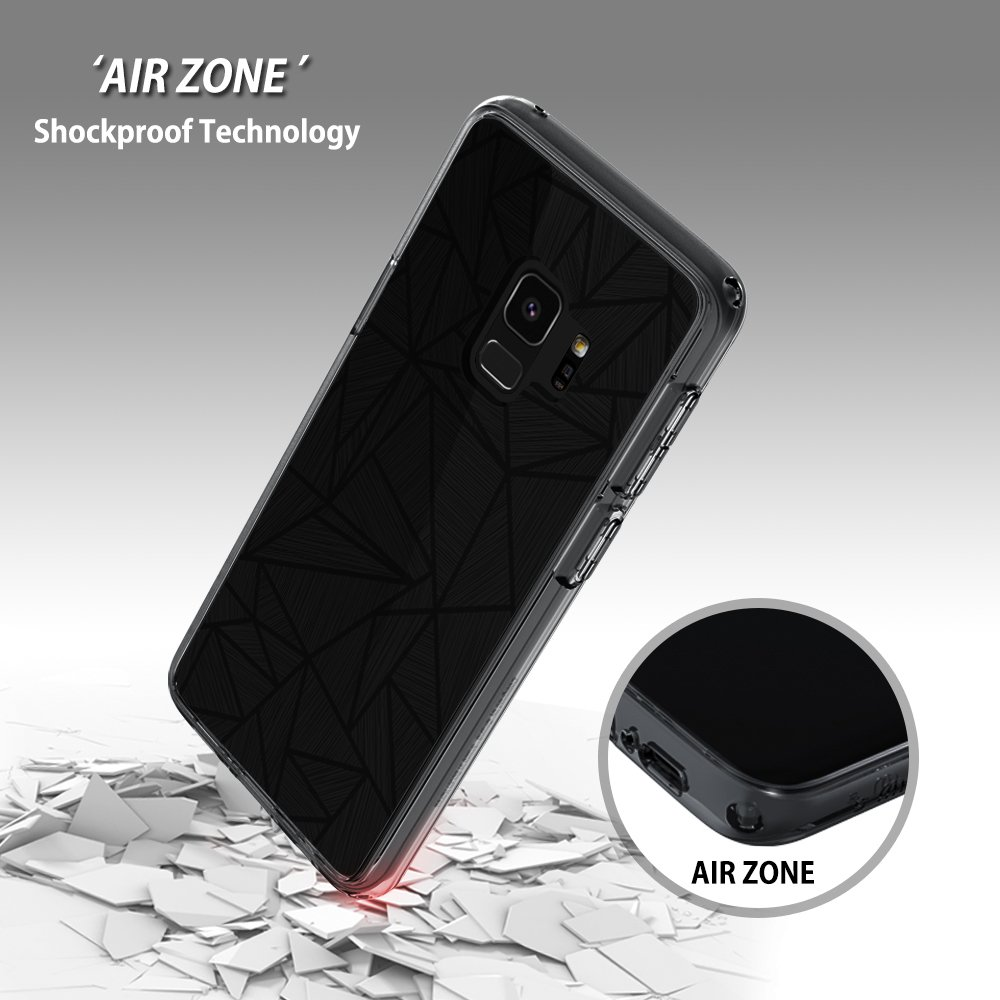 Samsung Galaxy S9 case, SMASS Secret Shine Slim Clear bumper Shock-Absorption Cover Ultra Drop Protection Anti Scratch Clear Back for Galaxy S9 - GRAY & CROSS by @hand (Image #5)