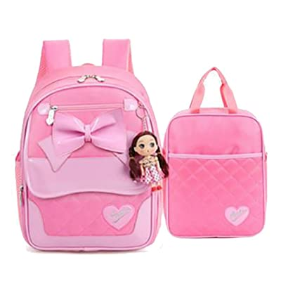 good Meetbelify School Backpack With Lunch Bag For kids Shoulder Bag For Girls 2 Sets