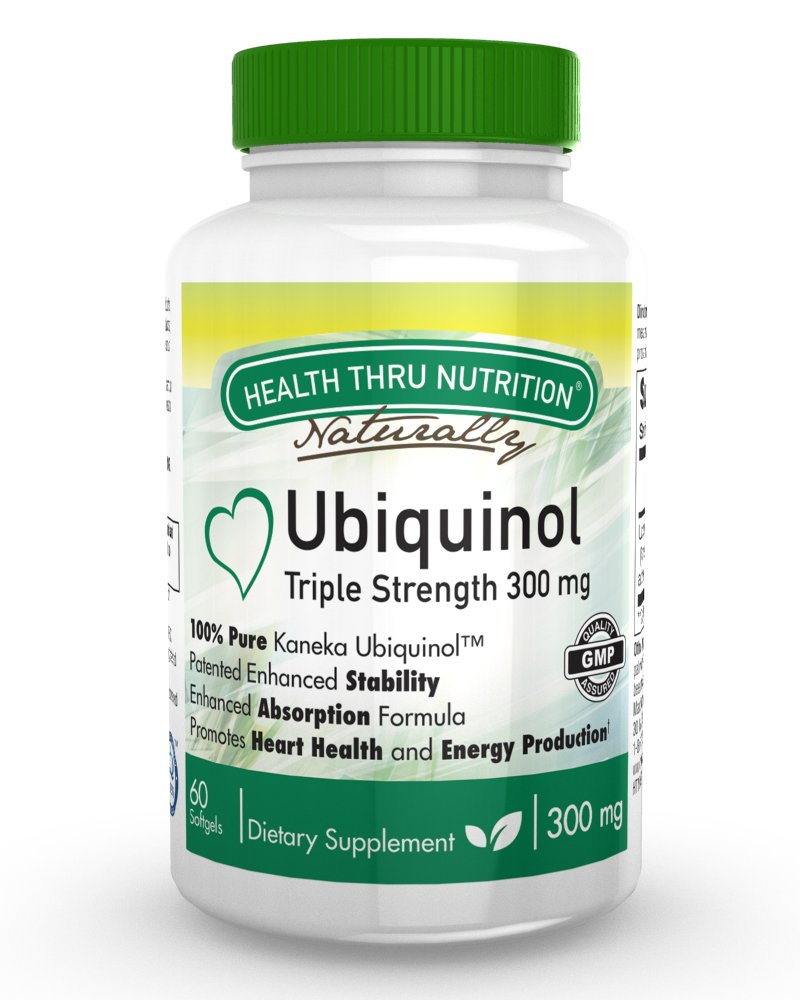 Ubiquinol 300mg 60 Softgels EAF CoQ10 (Enhanced Absorption Formula Coenzyme Q10 as Kaneka Ubiquinol)