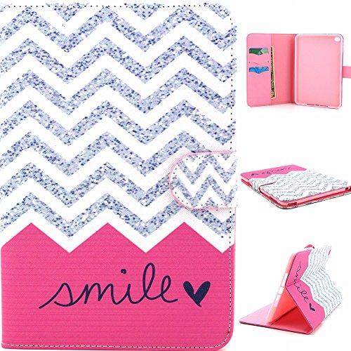 Letszhu Tablet Case For iPad Mini 4,Ultra Slim PU Leather Folding Stand Cover For Apple iPad Mini 4 (Smile) (Hp 7 G2 Case Orange)