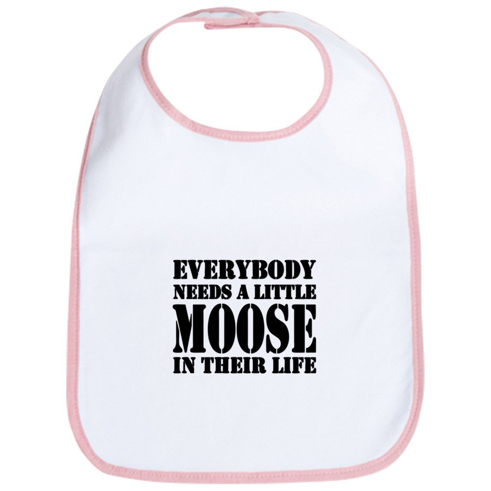 CafePress - Get A Little Moose - Cute Cloth Baby Bib, Toddler Bib
