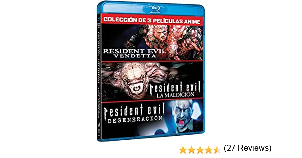 Pack Resident Evil: Vendetta (3 Peliculas) [Blu-ray]: Amazon.es: Erin Cahill, Kevin Dorman, Arif S. Kinchen, Karen Strassman, Kari Wahlgren, Paul Mercier, Alyson Court, Laura Bailey, Matthew Mercer, Dave Wittenberg, Wendee Lee, Takanori