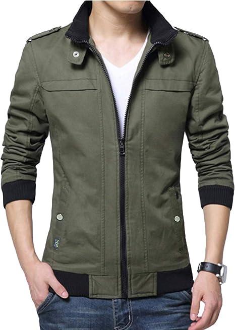 [メリュエル] 7カラー M~2XL ジャケット コート ファッション ショート丈 防寒 シンプル 長袖 ジップアップ メンズ