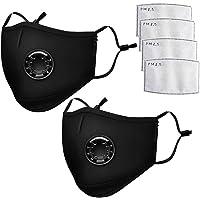 20pcs Anti Dust Mask, Anti-Fouling Mask N99 PM2.5 Carbon Filter Mask Black Cotton Men And Women Reusable Mask With 40pcs filter
