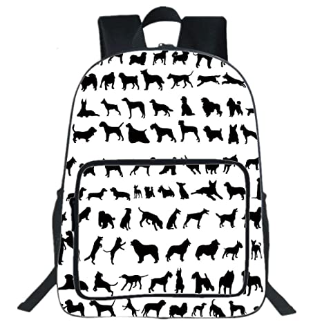 Amazon Com 19large Casual Backpackdog Lover Decorsilhouettes
