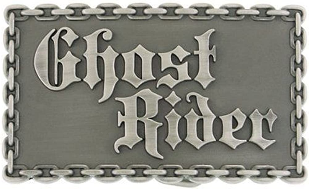 Marvel Comics Pewter Silver Ghost Rider Belt Buckle