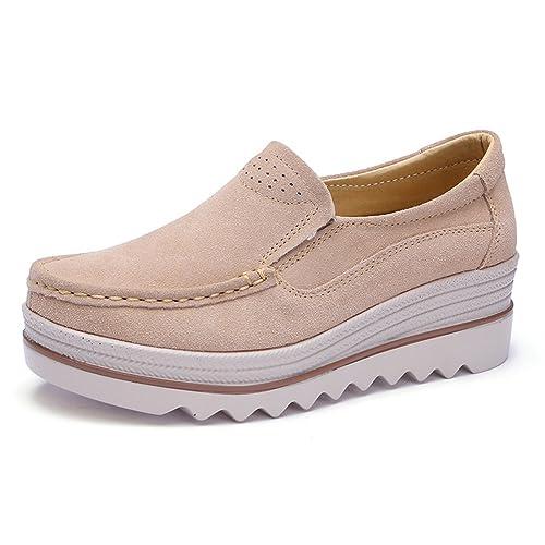 Z.SUO Women Platform Sandals Comfortable Wedge Work Shoes Suede Shoes (5 US,