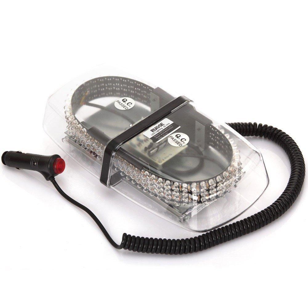 Lanxi Lumière d'avertissement 240 LED Lampe stroboscopique gyrophare strobe light risque police Lumières clignotantes à haute puissance de voiture montage sur toit avec base magnétique (bleu)