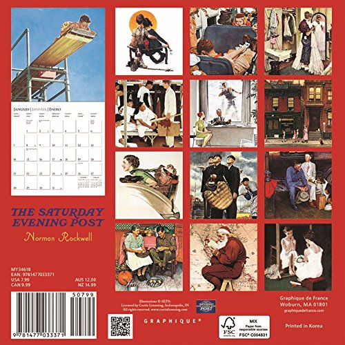 Saturday Evening Post 2018 Small Wall Calendar Photo #3