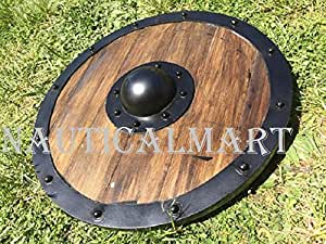 NauticalMart Medieval Renaissance Armor Viking Shield Brown Full Size Replica Shield