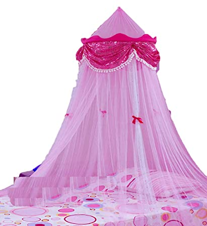 sc 1 st  Amazon.com & Amazon.com: Princess Canopy with Sequins By Sid Trading: Home u0026 Kitchen