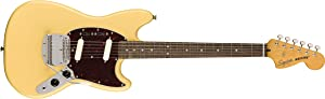 Squier by Fender Classic Vibe 60's Mustang Electric Guitar - Laurel - Vintage White
