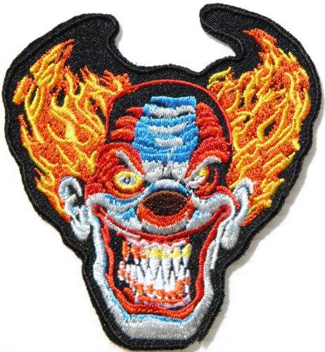 Joker Smile Zombie Halloween Biker Rider Punk Rock Tatoo Jacket T-shirt Patch Iron on Embroidered Applique Sign Badge -