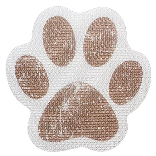 SlipRx USA Nonslip Bathtub or Shower Stickers Safety Adhesive Paw Print Treads | Large Decal Surface Area Grip - 4 Diameter Applique (Brown)