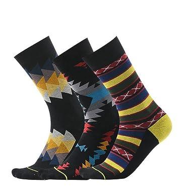 PinkBTFY Mens Geometric Terry Socks 3D Printed Cycling Irregular Hiking Socks Calcetines MK484950 L
