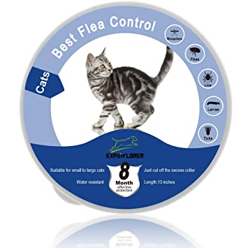 EXPAWLORER Collar Impermeable para pulgas y garrapatas para Gatos, protección de 8 Meses, el Mejor Tratamiento para Control de pulgas para Gatos y ...