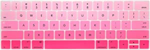 New Keyboard Cover for Mac Book 13 15 Inch with Touch Bar A1706 A1707 A1989 A1990 Laptop Keyboard Covers Gradient Keyboard Film,Gradient Pink