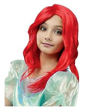 Sirena niños peluca roja