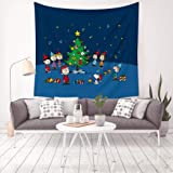 Transser Christmas Tapestry Wall Hanging Large Xmas Tapestry Hippie Print Throw Blankets Home Decor Merry Christmas Happy Holiday Winter Tapestries Thanksgiving Dining Tablecloth