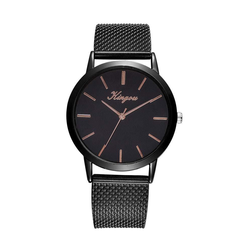 BBestseller Reloj de Cuarzo de Las Mujeres, Reloj de Pulsera de Cuarzo Ultrafino de Acero,Reloj Deportivo Casual Simple para Mujer (Negro 5): Amazon.es: ...