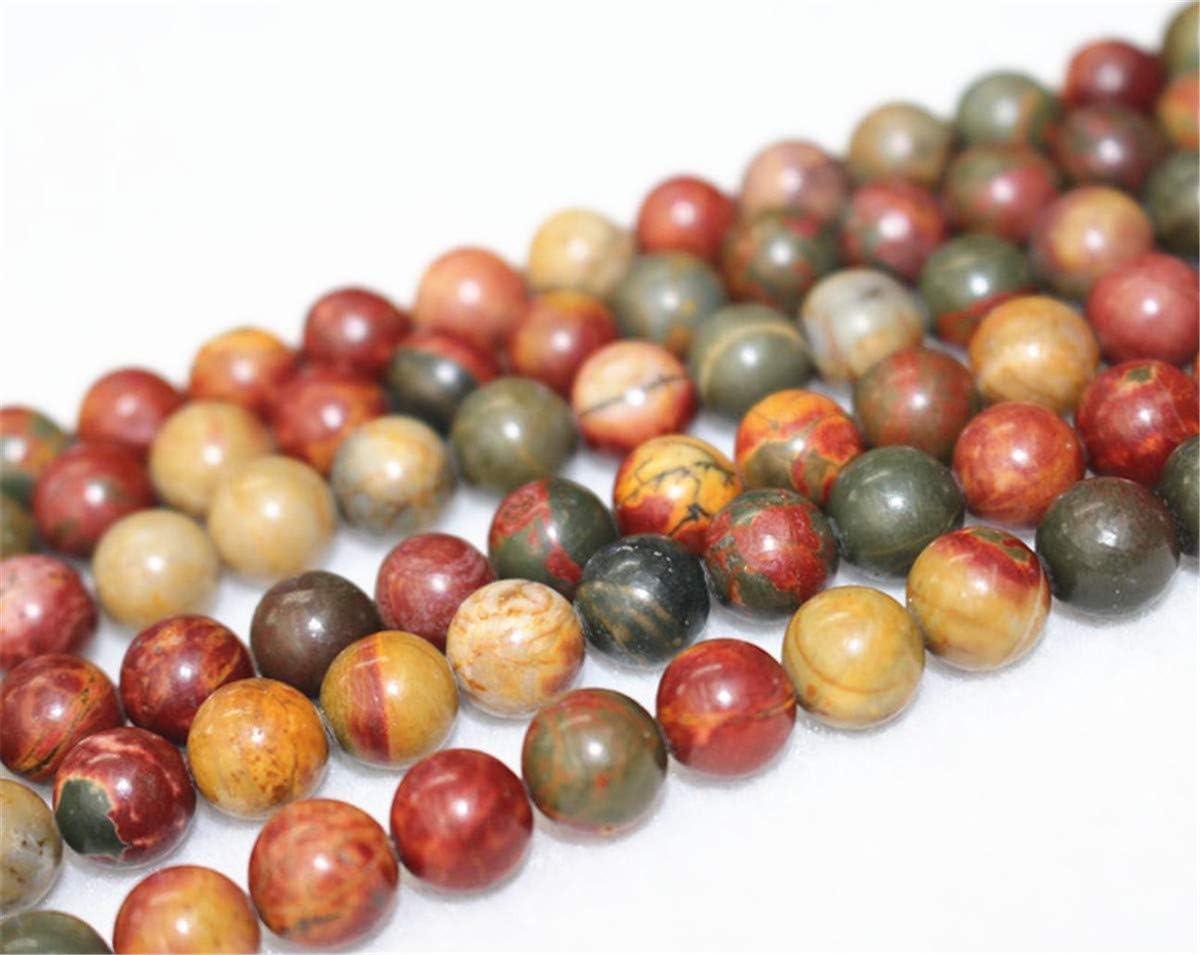 Abalorios de picasso natural de Wholesale, 4 mm, 6 mm, 8 mm, 10 mm, 12 mm, para picasso, cuentas suaves y redondas. Cuentas de color rojo de Howlite.