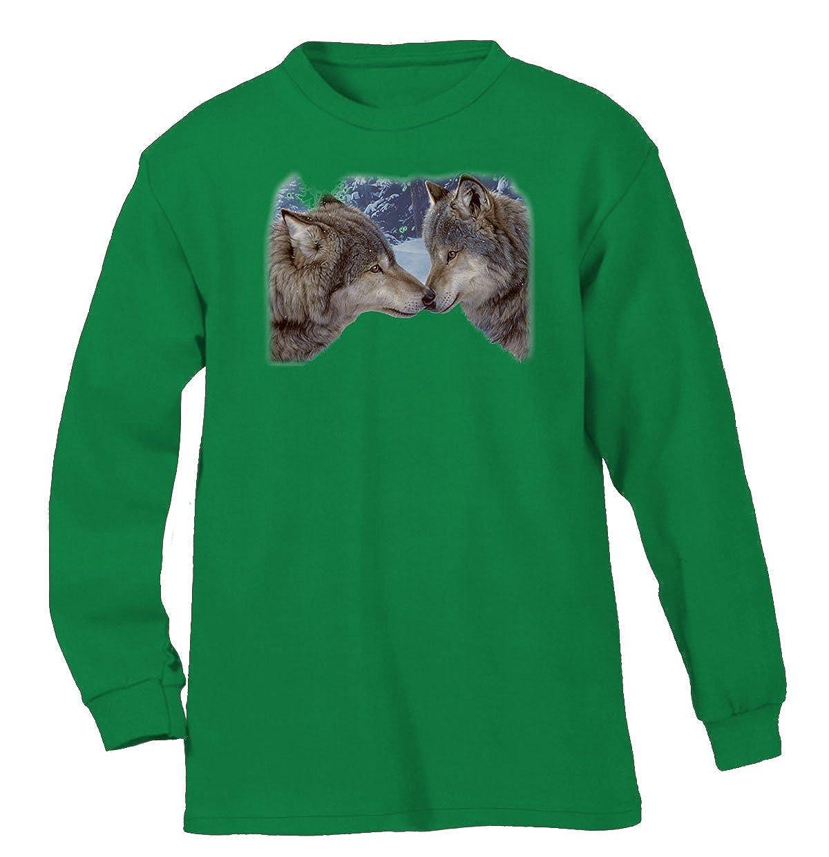 Amazon.com: Lobos tocar narices para hombre camisa de manga ...