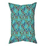 iPrint Polyester Throw Pillow Cushion Cover,Surfboard,Aloha Hawaii Live Free Ocean Water Sports Inspired Pattern Coastal Inspirations Decorative,Multicolor,Decorative Square Accent Pillow Case